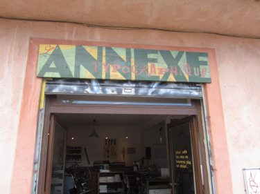 Doorway with Annexe Sign